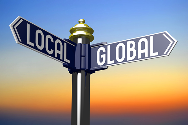 what is local marketing local versus global