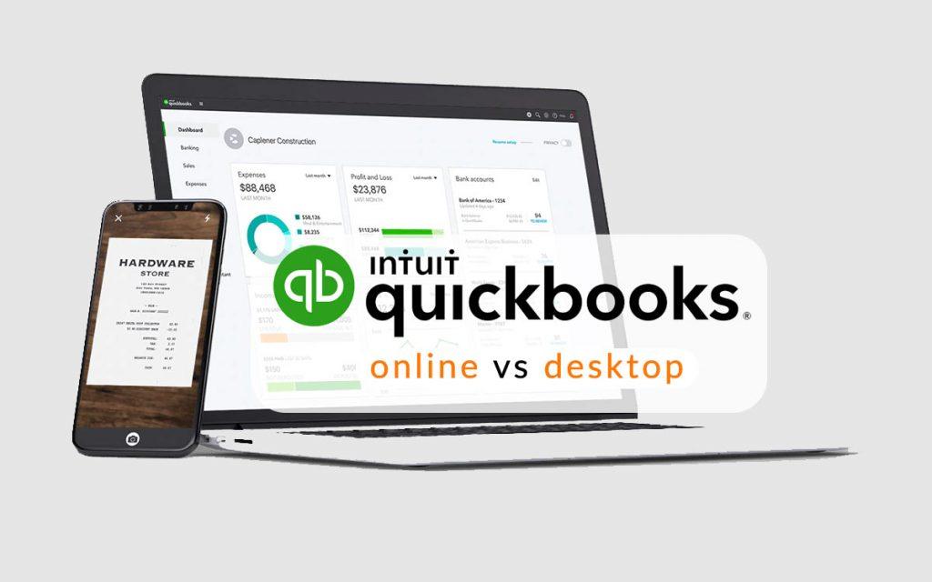 Quickbook online and quickbook desktop